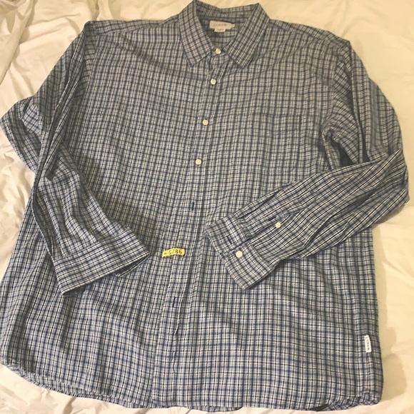 J. Crew blue white plaid Long Sleeve shirt XL